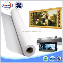 High quality waterproof polyester/ cotton/ poly-cotton inkjet printing blank canvas roll