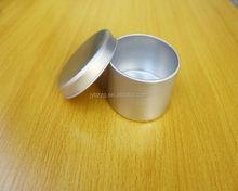 custom aluminum tin can for candles/cream/wax,100ml aluminum jar