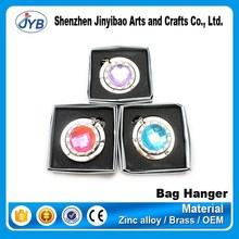 New desgin custom fashionable metal Acrylic diamond bag hanger/tea bag/table bag hanger