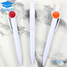 Plastic promotion ball pen with whistle shape clip