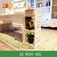 High toughness white moistureproof wooden design shelf for book