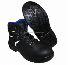 PU RUBBER SOLE Nubuck Leather Safety Shoes with reflective strip SNN4531