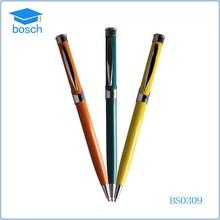 Yellow/Blue/Orange color promotion pen,cross ball pen