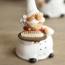 Fcc/ICTI custom polyresin chef sculpture for home/garden decoration china golden suppliers on alibaba