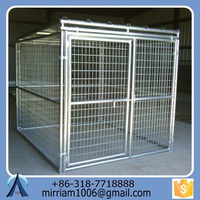 High quality low price eco-friendly and stocked various useful customized galvanized large outdoor folding dog cages/kennels
