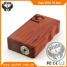 2015 china supplier portable tesla mech 160w wood mod with TC function