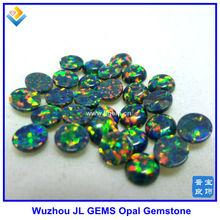 synthetic ethiopian welo green opal cabochon, opal jewelry