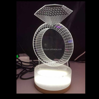 Novel Gift USB Charging Night Lamp LED Night Light 3d Night Light