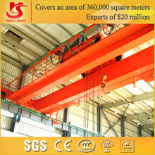 QD Type 20 ton HIgh Quality Double Girder Overhead Travelling Crane