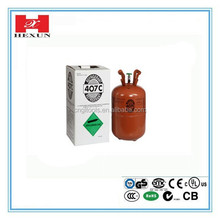 Industrial grade 11.3kg disposable cylinder package refrigerant gas r407c for air condition