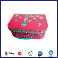 Lovely Cute Fancy Printing Baby Shoe Packaging Cartoon Suitcase