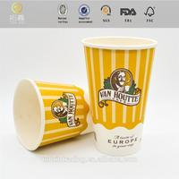 2015 NEW Design jam portion paper cup/bowl china cheap 8 10 12 16oz double wall paper cup made in China