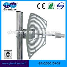 Factory high gain outdoor 24dbi satellite parabolic grid 5150-5850mhz antenna