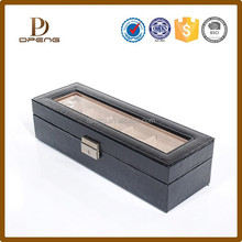 Beautiful design genuine leather jewelry box inside sponge