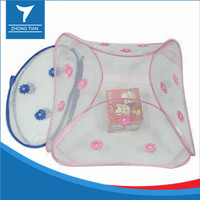 Folded Nylon mesh food cover