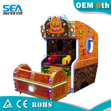 Coin operated shooting game water indoor crazy shooting on 3D screen kids shooting games