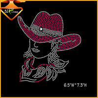 rhinestone iron on transfer Pink Ladies design for T-shirts