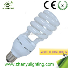 CFL Principle and half spiral Shape energy saving light bulb