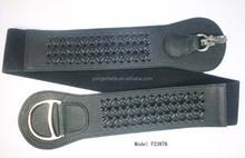 2015 hot selling wide elastic braided waist belt