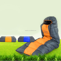 2015 Waterproof Adult Thermal Thick Sleeping Bag Envelope Hooded for Outdoor Travel Camping