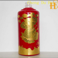 high sale gold stamping porcelain water transfer decal for glass bottle