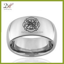 Daihe RN4907 Fireman Silver plated tungsten Fire Dept men's ring