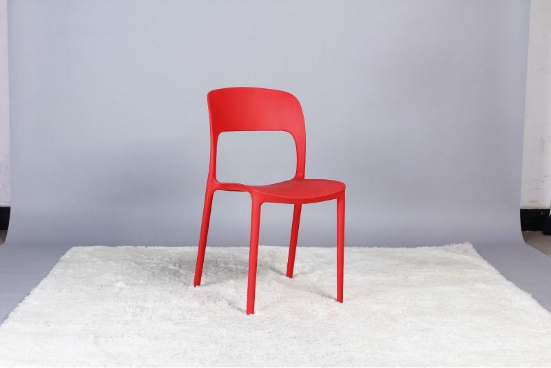 Nouveau design couleur moderne en plastique empilable caf chaise chaise plia - Chaise plastique couleur ...