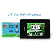 2.8inch Digital door viewer with doorbell Night Vision LED Video recording ip Camera