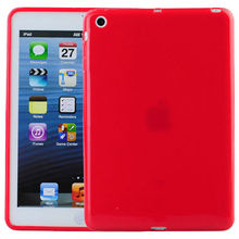 IMPRUE For Ipad MINI Red Soft TPU Case ,Solid Color TPU Cover Skin For Ipad MINI 8 Color