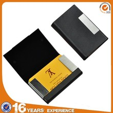 Cheap and cute pocket vinyl leather aluminum metal business card holder