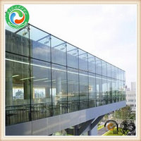 Modern best sell balcony low-e glass partition