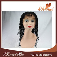Wholesale afro virgin brazilian afro kinky curly human hair full lace wig with baby hair