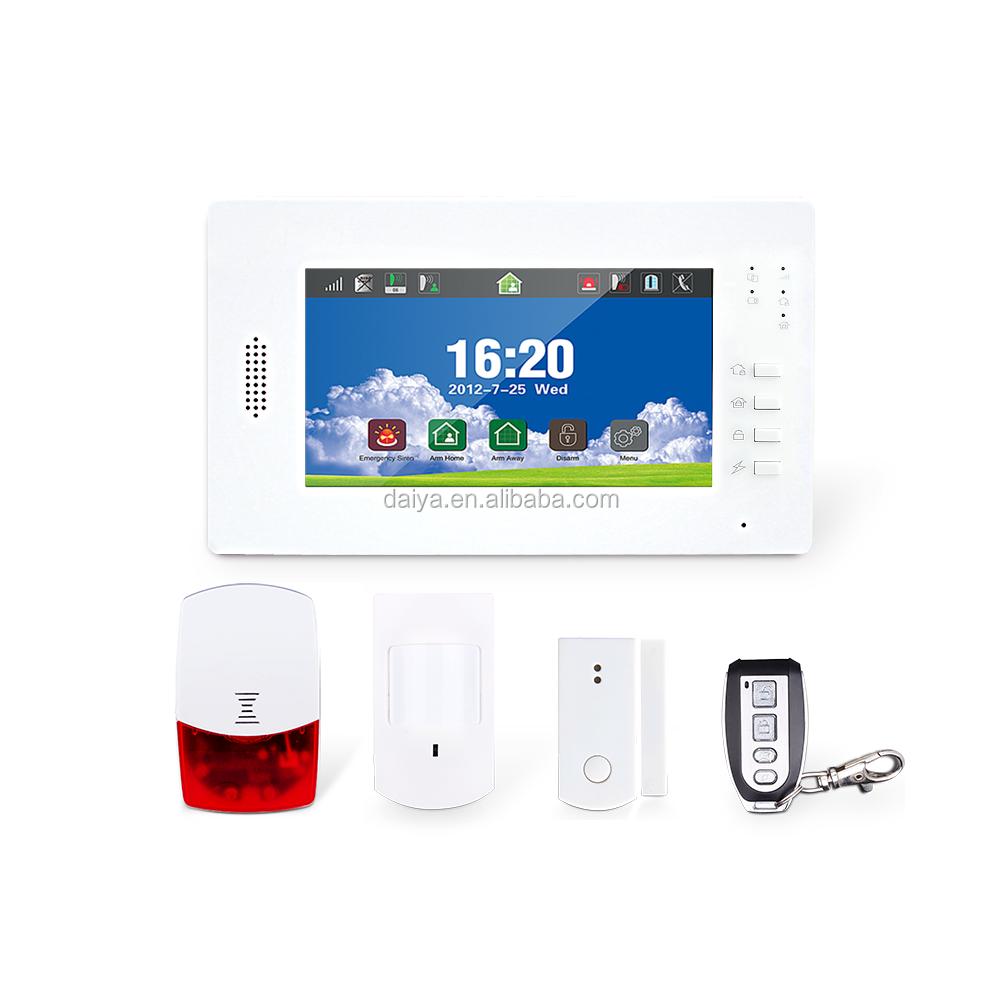 DaiYa gsm sistema di allarme pdf con full touch screen Professionale produttore di allarme DY-X6