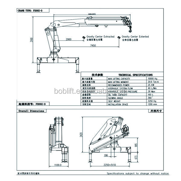 Swing Arm Lift For Pickup : Ton hydraulic boom lorry loading cantilever swing arm