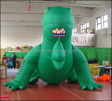 4m advertising giant green color inflatable lizard