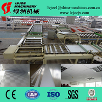 quality pvc laminated gypsum ceiling board making machine