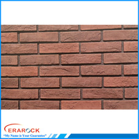 Outside wall decoration panel red brick style