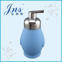 Penguin foam pump ceramic soap dispenser with rubber finish