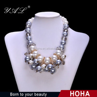 Latest pearl necklace jewelry 2015 at low MOQ