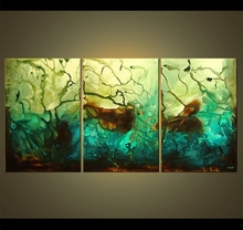 High quality 4 panels large digital printing scenery large canvas art