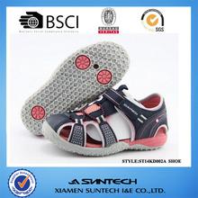 New fashion PU upper pigskin linning kids beach sandal for girl and boys