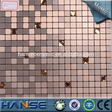 Lp131 parede salão deco 10 x 10 mm cobre col vermelho mosaico de alumínio folha