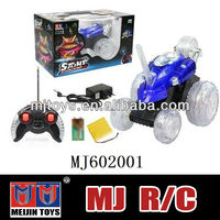 Red rc stunt car toy