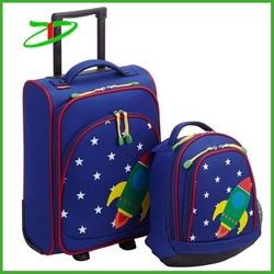 Wholesale cute kids luggage, fashion travel luggage bags for kids