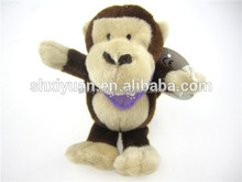 Wholesale plush monkey keychain/mini monkey/stuffed monkey keychain