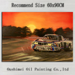 The King of The Rally Car Race Oil Painting On Canvas 100%Handmade High Quality Impression Rally Car Oil Painting For Home Art