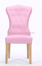 High Tufted Buttoned Leather Dining Chair,Hotel bedroom buttoned upholstered writing chairs/YJ-206
