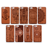 Real Natural Wood Case For iPhone 5 Back Cover Logs+PC Carving Pattern For iPhone 5S Wood Outdoor Handmade