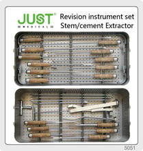 JUST Revision THA Instrument Stem Cement Extractor modular bipolar hip prosthesis anatomical fracture fixation