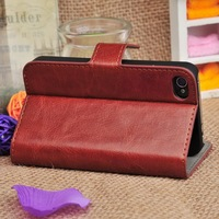 2014 New Products Flip Leather Wallet Case for Iphone 4/4S